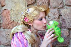 Rapunzel wig and makeup
