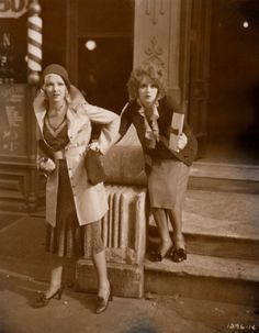 Fashionable flappers Dixie Lee and Clara Bow in No Limit (1931).