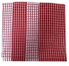 Kitchen Hand Towels  4 Count  Red Patterned -- Continue to the product at the affiliate link Amazon.com.