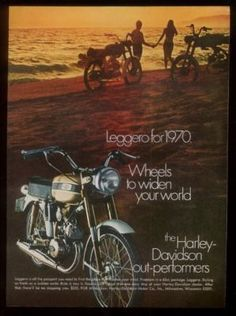 1970 Harley-Davidson Leggero, my first motorbike at age 9. Won in a bet with my father. Which was also my ger first bet. My pops is the best man I have ever known.