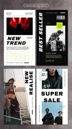 Social media story with street fashion Premium Psd Web Design, Game Design, Layout Design, Graphic Design Posters, Graphic Design Inspiration, Fashion Graphic Design, Instagram Design, Album Design, Social Media Design