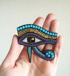 Bead Jewellery, Boho Jewelry, Jewelry Crafts, Beaded Jewelry, Beaded Bracelets, Evil Eye Jewelry, Egyptian Jewelry, Bead Embroidery Jewelry, Beaded Embroidery