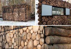 Acredite se puder: essas toras de madeira são na verdade uma fantástica casa