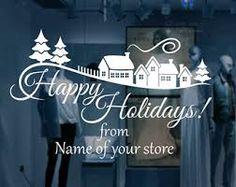 Image result for storefront christmas windows vinyl