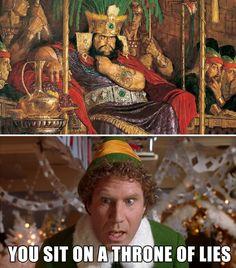 You sit on a throne of lies. #MormonLaughs #LDSHumor Funny Church Memes, Funny Mormon Memes, Church Jokes, Lds Memes, Lds Church, Lds Quotes, Utah Memes, Saints Memes, Lds Mormon