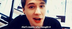 """Just realised Dan's drink is called fifty shades of grape,"" - Phil"