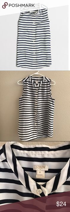 J.Crew Factory draped tank blouse Size 8 in great condition. Updated with a longer length and a full placket. Poly. Machine wash. Import. J. Crew Tops Blouses