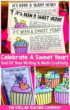 End of Year Activities End Of Year Activities, Writing Activities, Help Teaching, Teaching Writing, End Of School Year, 5th Grade Math, Writing Workshop, Math Lessons, Cupcake