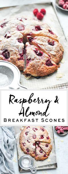 Raspberry & Almond Breakfast Scones   eatlittlebird.com