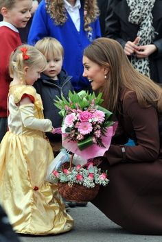 "Kate Middleton.  How adorable is this? This makes me think of ""The Princess Diaries""!"