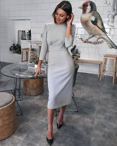 New dress outfits party simple ideas Dresses For Teens, Trendy Dresses, Modest Dresses, Tight Dresses, Nice Dresses, Casual Dresses, Short Dresses, Dresses For Work, Midi Dress With Sleeves