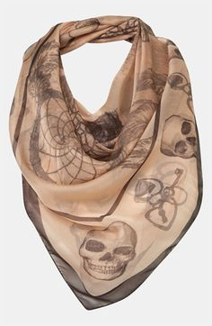 Topshop 'Dream Catcher & Scull' Scarf