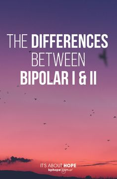 Distinguishing the difference between the disorder can be daunting
