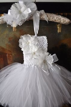 Baby Tutu Dress with Lace Flower Wedding Party Baby Shower Birthday Girl 2T 4T | eBay