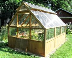 DIY Greenhouse Plans and Greenhouse Kits: Lexan Polycarbonate, Cedar Wood Framed. DIY Greenhouse P Diy Greenhouse Plans, Backyard Greenhouse, Greenhouse Wedding, Homemade Greenhouse, Cheap Greenhouse, Mini Greenhouse, Pallet Greenhouse, Cheap Pergola, Outdoor Projects