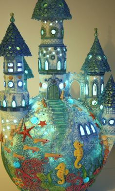 droomwereld van klei - paperclay ocean dreamworld