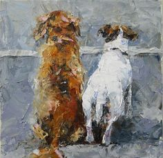"""""""Crossing the line"""" - Original Palette Knife Painting© Jeanette Jobson   SOLD"""