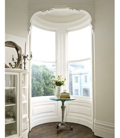 interior of a turret of a San Francisco Victorian house (it especially stands out with the wonderful moulding)