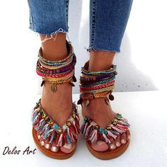 Shop the latest Leather Hippie Sandals products from DelosArt on Etsy, EATHINI on Etsy, DelosArtist on Etsy and more on Wanelo, the world's biggest shopping mall. Bohemian Sandals, Boho Shoes, Nail Jewelry, Rose Boutique, Head To Toe, Leather Sandals, Appaloosa, Etsy, Trending Outfits