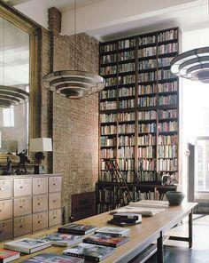 book lover's paradise #bibliotheque #bureau
