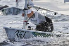 Star Belgian sailor takes sick after racing on polluted bay  -  August 11, 2016  -     In this picture taken Tuesday, Aug. 9, 2016, Belgium's Evi Van Acker competes during the Laser Radial women event at the 2016 Summer Olympics in Rio de Janeiro, Brazil. Van Acker reported feeling sick after races Wednesday, Aug. 10, the governing body World Sailing said. (AP Photo/Gregorio Borgia)