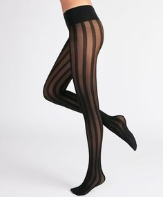 Sheer striped tights - New In - ACCESSORIES | Oysho