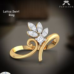 """Charm that can dazzle eyes at every stop on the way. ""   #ring #diamondring #goldring #budgetprice #workwearstyle #papilior"