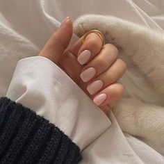 Frensh Nails, Nude Nails, Coffin Nails, Classy Nails, Stylish Nails, Fancy Nails, Manicure Y Pedicure, Short Nail Manicure, Manicure Ideas