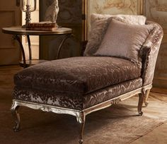 Ralph Lauren Home - The Heiress Collection-always wanted a chaise lounge! Furniture Styles, Home Furniture, Antique Furniture, Antique Sofa, Western Furniture, Rattan Furniture, Furniture Design, Fainting Couch, Grande Hotel