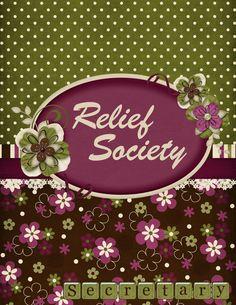 Dora's Digitals: Relief Society Binder Covers