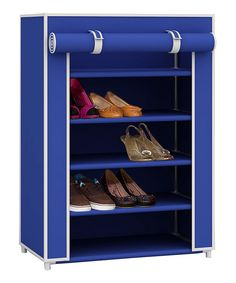Look at this Blue Five-Tier Shoe Closet on #zulily today!