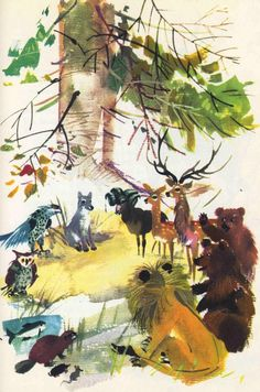 The Art of Children's Picture Books: The Big Book of Animal Stories, Janusz Grabianski, Part 2