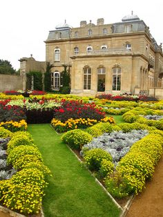 Flowers in the formal garden at Wrest Park, a country estate in Bedfordshire, England ~ National Trust