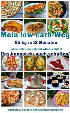 """Meine low carb Ernährungsumstellung Den Begriff """"low carb"""" kennt mittlerweile wohl fast jeder. Er taucht auf,wenn man sich mit dem Thema """"gesund abnehmen"""" beschäftigt oder wenn der Arzt/dieÄrztineine kohlenhydratreduzierte Ernährung bei bestimmten Erkrankungen empfiehlt. Mein low carb Weg begann vor über3 Jahren mit 25 kg Übergewicht. Davor hatte ich diverse Diäten ausprobiert…. mit demErfolg, dass ich total gestresst war und die Kilos immer wieder zurück kamen und dann auch immer…"""