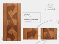 Handmade wooden door code: Berlin / by Georgiadis furnitures