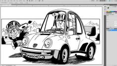 how to create black line art in photoshop