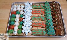Stop by and shop our fresh bakery case, we just received new shipment of howliday cookies for your pups! Shop our cookie selection, we have everything your pups need this holiday season!  Pictured: (From left to right)  @itsbubbarose cookies various prices  Christmas Truffles  Snowflakes  Merry Woofmas Bones Christmas Trees Gingerbread Men  Crafted Five Star Dog Treats Handmade in small batches with organic ingredients. Healthy & tasty peanut butter carrot cake rich with beta carotene…