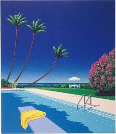 hiroshi nagai /// the master of pools and palms