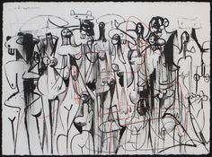 George Condo Untitled, 2001, Crayon, pencil, and ink on paper 23 × 30
