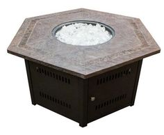 Phat Tommy Propane/Butane Fire Pit with Faux Stone Top