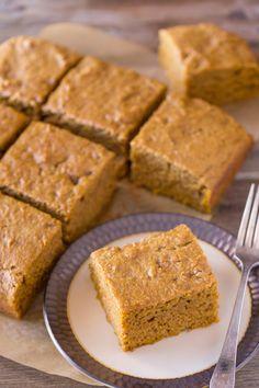 Healthier Pumpkin Snack Cake - Lovely Little Kitchen