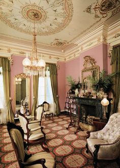 The Drawing Room of a mansion built in 1896.                                                                                                                                                                                 More