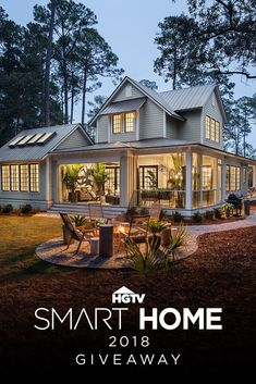 HGTV Smart Home 2018: This Southern Coastal Sanctuary with Modern Twists, in Palmetto Bluff in South Carolina, could be yours! Grand prize worth over $1.6M. Learn more.