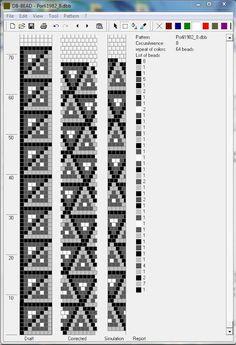 Bead crochet pattern, 8 around