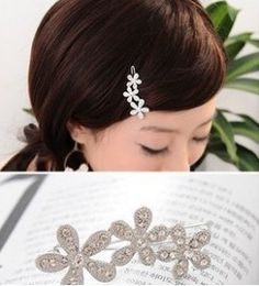 Cheap fashion personality three plum small hairpin side clip crystal tiaras hair accessories for women marriage Free Shipping #Affiliate
