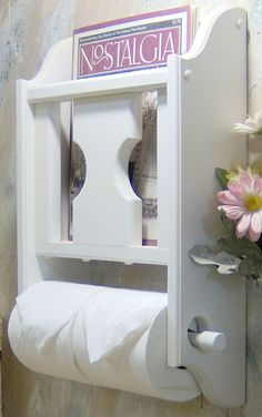 Toilet Roll Holder With Magazine Rack Choose your color Magazine Rack with Toilet Paper tissue Holder 34