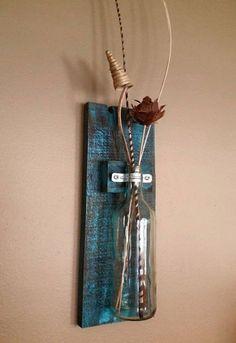 Pallets Wood Wall Hanging Vase – Pallets Ideas, Designs, DIY. (shared via SlingPic)