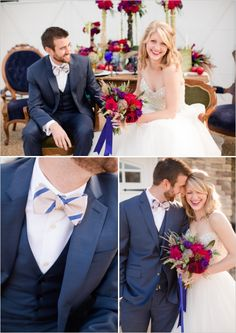 blue three piece suit for groom #groom #groomattire #weddingchicks http://www.weddingchicks.com/2014/02/21/jewel-wedding-ideas/