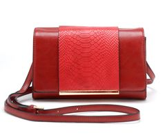 Valyne Medieum Snake Trim Accented Shoulder Crossbody Handbag >>> Check this awesome image     - amazon affiliated pin