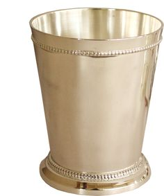 - Silver Plated Mint Julep Cup! - use one to display fresh flowers, or an entire set to serve mint julep to guests! - silver plated - detailed beaded edge along the bottom and top perimeter - measures
